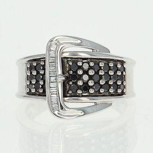 Jewelry - 14k White Gold & Diamond Ring